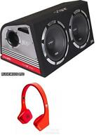 """Vibe Slick Twin 12"""" Active Subwoofers Subs and Box 2400w FREE VIBE headphones"""
