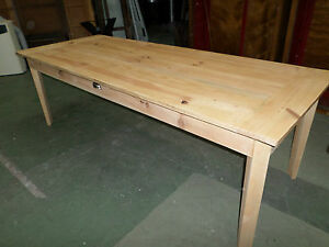 table de ferme 2 metres 34 en sapin massif