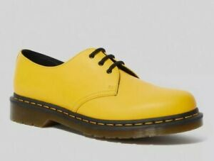 BRAND NEW IN BOX! Dr Martens 1461 Yellow Smooth Shoes