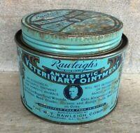 *Advertising Veterinarian Remedy Tin RAWLEIGH'S VETERINARY OINTMENT Freeport ILL