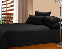1800 Count Soft Microfiber Fabric 3 Pcs Bed Sheet Sets Twin Size,Soild Black