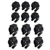 12 Pieces Regular Fishing Pole Rod Holder Storage Clips Rack 2 Style & 6 Pc S3P9