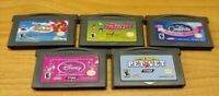 Nintendo Game Boy Advance GBA Lot - Disney Princess CInderela Pet Vet Powerpuff