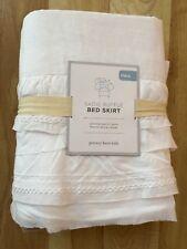 NEW POTTERY BARN KIDS Sadie Ruffle White BED SKIRT  FULL