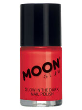 MOON GLOW - GLOW IN THE DARK NAIL POLISH RED HALLOWEEN MAKEUP SMFM3256