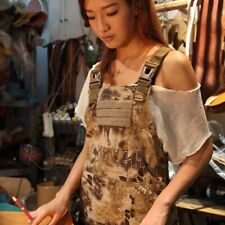 Outdoor Unisex Tactical Aprons Sleeveless Pinafore Technician Mechanic Army Camo
