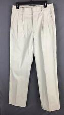 New J. CREW Regular Pleated Khaki Pants 31 X 32 NWT 100% Cotton
