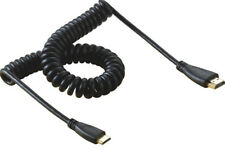 Spiral Coiled 8FT Mini HDMI C male to HDMI A male adapter spring Cable 2.5m HD