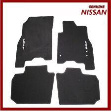Genuine Nissan Leaf ZE0E Car Floor Mat Velour Textile Carpet Black KE7553NL10