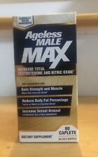 Ageless Male Max Testosterone Booster 60 Caplets Exp:05/22 *NEW/UNOPENED*