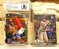 2016 Bowman Chrome Yoan Moncada Rookie Autograph Beckett Authentic AUTO RC LOT!