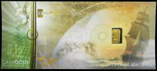 GOLD KARATBARS NADIR 1/10 GRAM .9999 FINE BAR SEALED IN ASSAY NOTE
