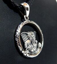 Quality Silver Lord Ganesh Pendant. Handmade in Nepal. Fast shipping, USA Seller