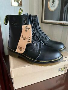 Dr Martens ankle black leather faux fur linied boots1460 Pascal size 6 BNWT