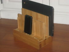Multi Device Bamboo Organizer Charging Station Great Christmas Gift New in Box