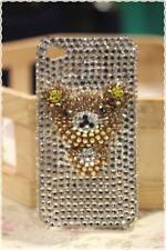 Cover custodia rigida con ORSETTO iphone 4 4s strass cristallo applicati a mano