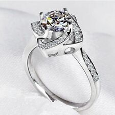 Silver Engagement Fine Gemstone Rings