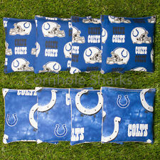 Cornhole Bean Bags Set of 8 ACA Regulation Bags Indianapolis Colts Free Shipping