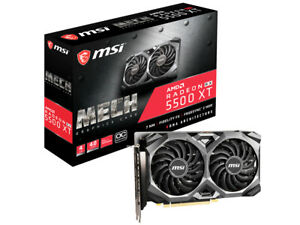 MSI AMD Radeon RX 5500 XT MECH 4G OC GDDR6 4GB Graphics Video Card