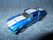 HOT WHEELS '67 MUSTANG SHELBY GT500 BLUE 1:64 DIECAST CAR W/ WHITE STRIPES - NIC