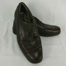 Mens Size 13 Clarks Lace Up Brown Leather Casual Comfort Shoes