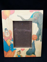 Photo Frame Circus Clown Elephant Painted Wood Nursery Picture Fetco