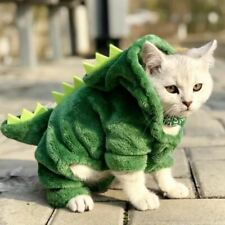 1 Pc Pet Cats Clothes Funny Dinosaur Costumes Coat Winter Warm Fleece Cat Clothi