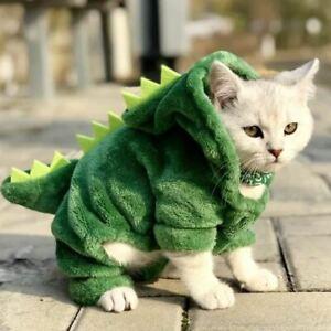 1 Pc Pet Cats Clothes Funny Dinosaur Costumes Coat Winter Warm Fleece Cat Clothi