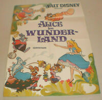 A1 Filmplakat ,ALICE IM WUNDERLAND, WALT DISNEY, ZEICHENTRICK