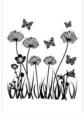 Clear Rubber Stamps - Field Flowers - 1101 -  Cardmaking - Scrapbooking - NEW
