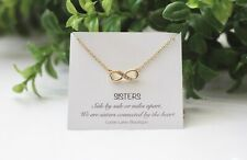 Infinity necklace-Gift for bridesmaid- Bridesmaid necklace-Sister necklace