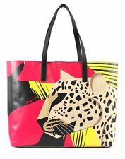 Y NOT? Leopard Shopper Schultertasche Shopper Tasche Leopard Pink Beige Gelb Neu