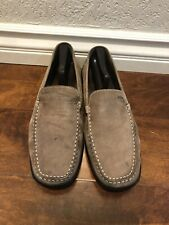 geox Mens Shoes Suede Light Brown Loafer Slip On Sz 45 / 11 US