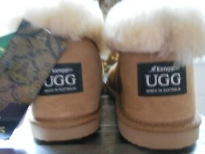 KENGGI UGG SLIPPERS SIZE 10  MADE IN AUSTRALIA NEW WITH TAG 44