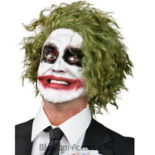 W388 The Joker Green Party Mens Wig Batman The Dark Knight Fancy Dress Costume