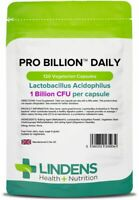 Probiotic Daily 1 Billion CFU 120 Capsules Lactobacillus Acidophilus Lindens UK