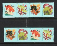 US 2019 NEW CORAL REEFS NH 2 Strips Both SHEET & COIL - Post Card -Free USA Ship
