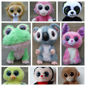 """Ty Beanie BOO 6"""", solid eyes, blue tags U PICK:WOODY,CLOVER, GOLDIE,FETCH,BAMBOO"""