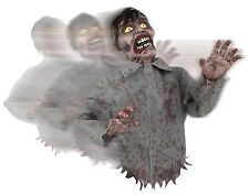 Halloween Animated BUMP AND GO ZOMBIE POSABLE ARMS Prop Haunted House