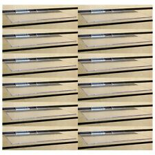 Clear Slatwall Shelves 6 Inch X 12 Inch Set Of 12 Retail Display