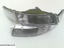 NEW Toyota MR2 SW20 Traditional Clear Front Bumper Park Side Indicator Lights