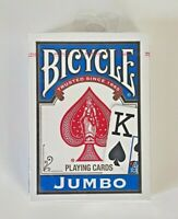 1 Deck BLUE Bicycle Poker Playing Cards Jumbo Index 808 Rider back
