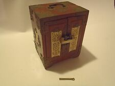 Vintage Chinese Jewelry Box with Rare Chinese Lock