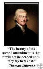 "Thomas Jefferson ""second amendment"" Quote 11 x 17 Poster Photo #sm2"