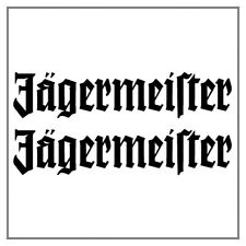 2 Autocollants Stickers Decals Jägermeister (20x4,2cm)