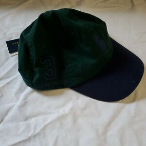 nwt $49.50  Polo Ralph Lauren Big Pony Leather Strap Cap One Size Green Purple