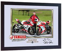 William Dunlop photo print signed autograph Framed