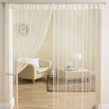 New Luxury String Panel Room Divider Window Door Curtain 90x200cm - Gold