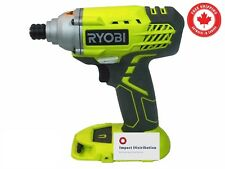 New Ryobi P235 1/4 Inch One+ 18 Volt Lithium Ion Impact Driver Bare Tool