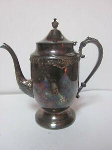 VINTAGE SHERIDAN SILVER ON COPPER COFFEE TEA POT